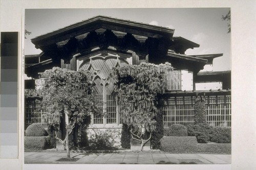 First Church of Christ, Scientist, Berkeley: [exterior, view of vines and windows]