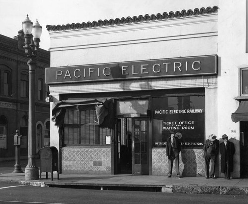Pasadena Pacific Electric depot
