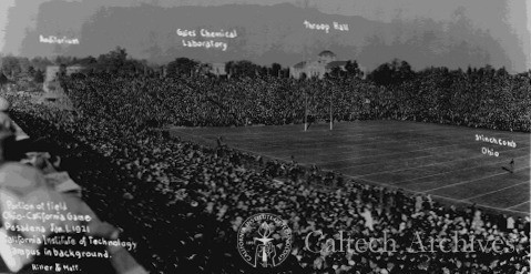 1921 Rose Bowl game, played in Tournament Park (Ohio State vs Cal ...