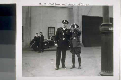 San Francisco Police and Army officer