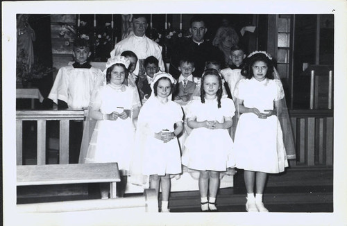 First Communion class with Ernest P. Watson