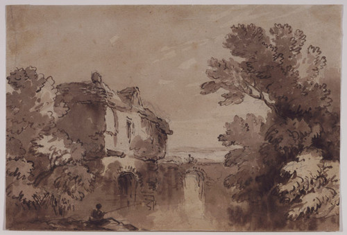 Landscape with a House by a Stream
