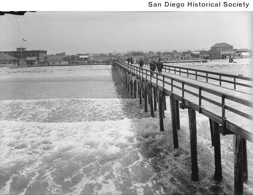 View of Imperial Beach from the end of a pier