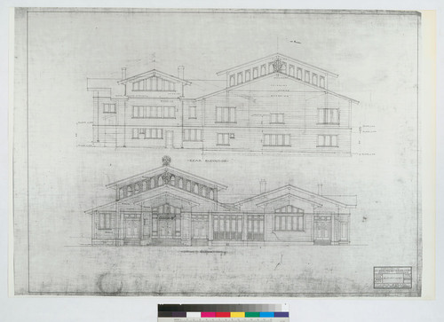 Rear Elevation and Section