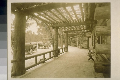 [Porch, unidentified lobby. Monterey County.]