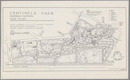 Calisphere Site plan for Centinela Park Inglewood 1945 – How To Get A Site Plan