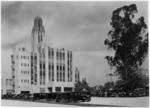 [Exterior full rear view from parking lot Bullock's Wilshire building.]