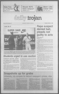 Daily Trojan, Vol. 113, No. 21, October 02, 1990