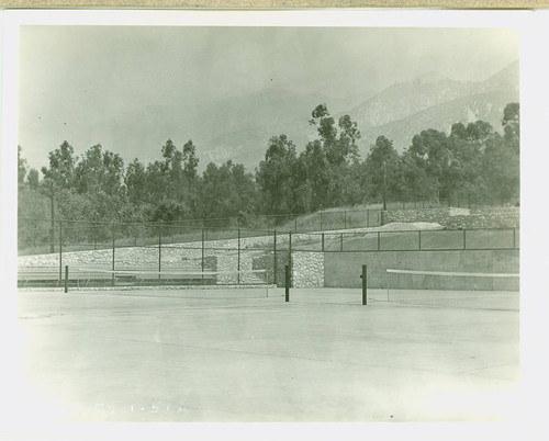 View of tennis courts at Charles S. Farnsworth Park