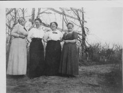 Four of the five daughters of Isaac W. and Mary Sullivan, about 1915--Sophronia Clementine Street, Amanda Gailliard, Letha J. Coyan and Minerva (Nerva) Ann Newell