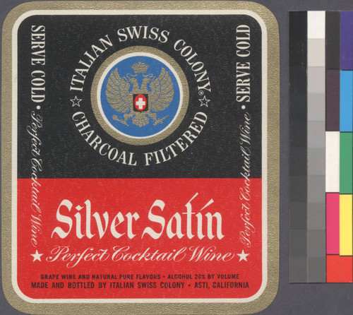 "Silver satin : grape wine and natural pure flavors "" alcohol 20% by volume"