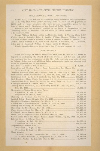 "[Page 990 from 1915-16 San Francisco Municipal Report, ""City Hall and Civic Center History.""]"