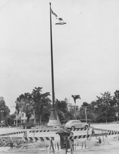 Moving Pasadena flagpole