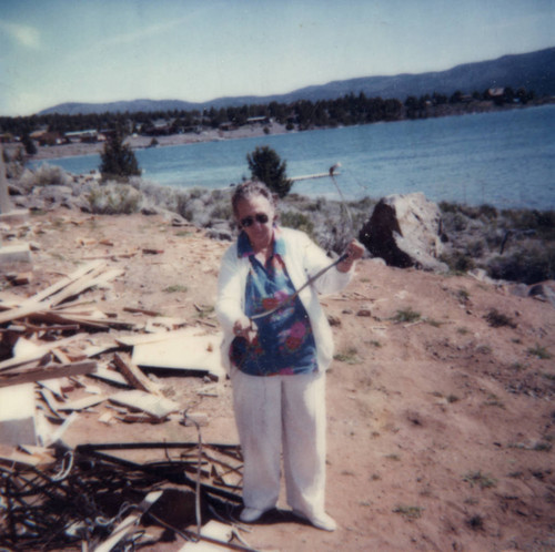 Mildred Forester at Eagle Lake