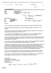 [Letter from Thorpe, Graham GE to Peter Whent and Lynn Humphrey regarding Standby LC]