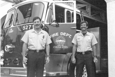 Chula Vista Firefighters Angelo Cappos and Darrell Relyea