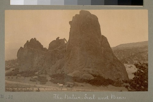 The Native, Seal and Bear, Garden of the Gods. 1409. [Colorado.]