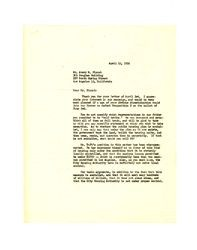 Letter from Frederick C. Dockweiler to Avery M. Blount, April 15, 1952