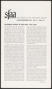 SF Art Association Bulletin - 1950-08/1950-09
