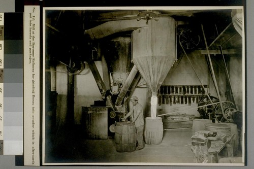 Mill at the Bayonne Refinery for grinding Borax into powder which is afterwards put into barrels and packages