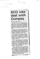 SCO inks deal with Compaq