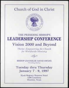 COGIC, leadership conference program, 1997