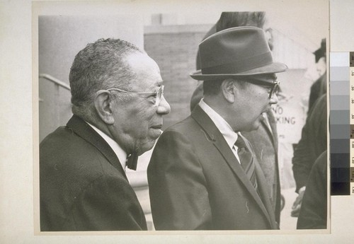 "Amos White and S. I. Hayakawa attended funeral for ""Pops"" Foster"