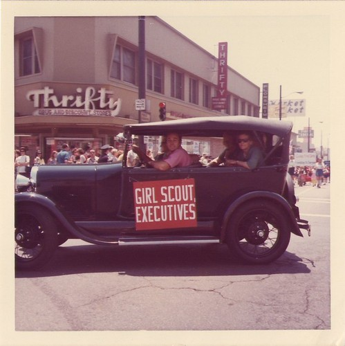 Girl Scouts' Parade: Car of Girl Scout Executives