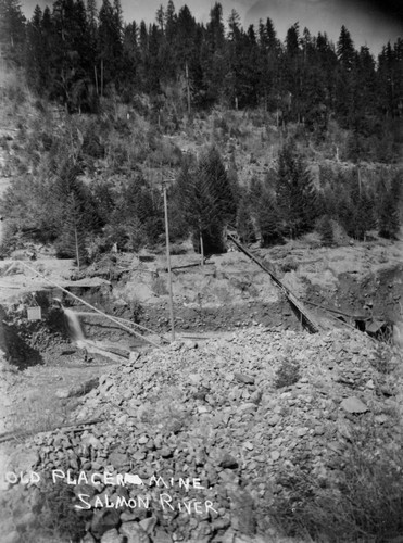 Old Placer Mine in Sawyers Bar area