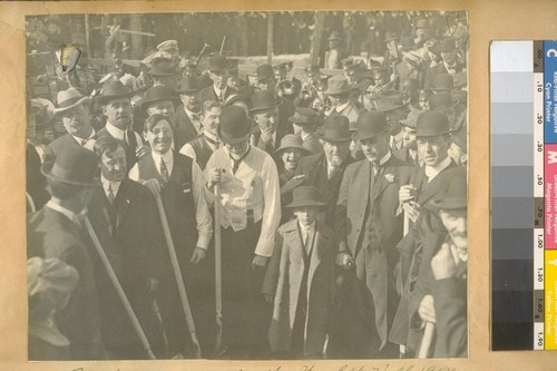 Breaking ground for the New City Hall 1914
