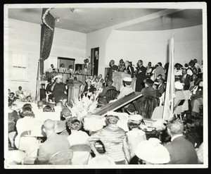 Group of people at an unidentified COGIC service