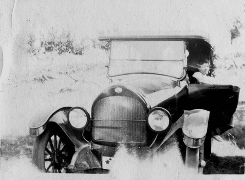 Riddell family's car on a Skaggs Road trip--probably to Stewart Point on the northern California coast, circa 1920