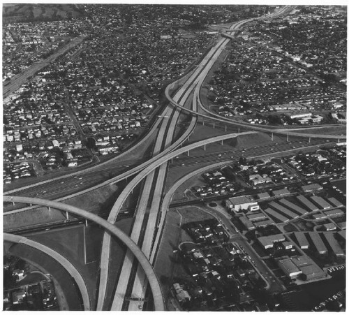 Calisphere freeway possibly interstate 10 los angeles freeway possibly interstate 10 los angeles december 18 1964 sciox Choice Image