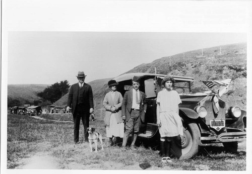 William S. Borba with family and friends at Fort Ross