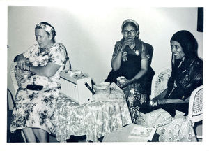 DMS missionary's 60 anniversary Aden and the 1964. Karen Olsen and some of the older women