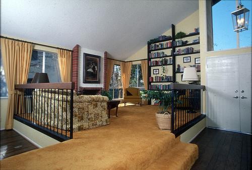 Calisphere Madrid del Lago plan 750 model home raised living – Model Home Living Rooms