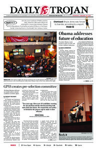 Daily Trojan, vol. 172, no. 10, Jan 26, 2011