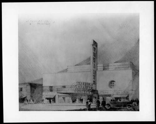 Beverley Theatre, Beverly Hills, photograph of rendering