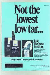 Not the lowest low tar…just the best tasting
