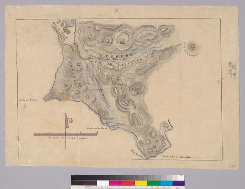 [Terreno que se solicita del Cañada de Tamales, Cañada de Baulines y Punta de Reyes : Marin Co., Calif.]