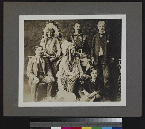 Calisphere Group Portrait Of Buffalo Bill Sitting Bull