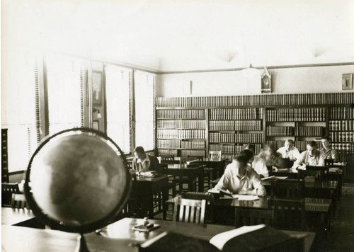 Students studying in library in St. Robert's Hall