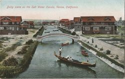 Daily scene on the salt water canals, Venice, California