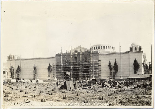 [Construction of the Palace of Food Products, Panama-Pacific International Exposition]
