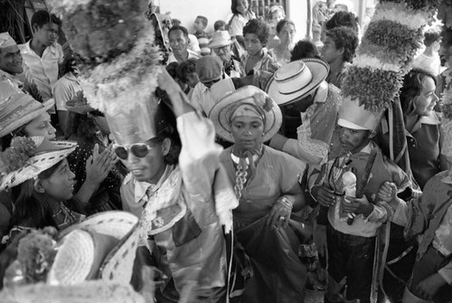 Crowd watching dancers, Barranquilla, Colombia, 1977