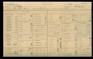 WPA household census for 1227 W 8TH STREET, Los Angeles
