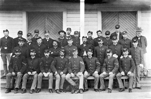 Soldiers at Fort Bidwell