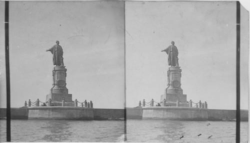 Calisphere the de lesseps statue at port said egypt image the de lesseps statue at port said egypt publicscrutiny Gallery