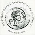 Bulletin of the Institute for Antiquity and Christianity, Volume XXIV, Issue 2