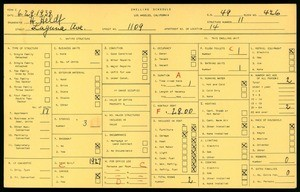 WPA household census for 1109 LAGUNA AVE, Los Angeles